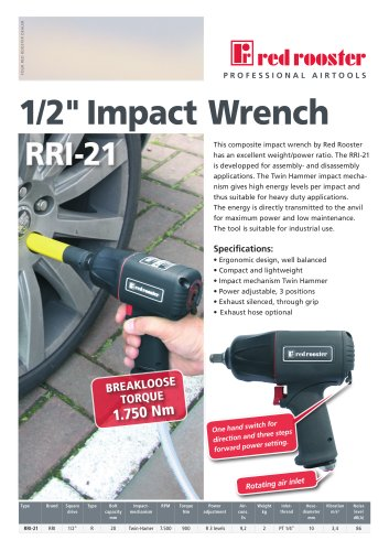 """Red Rooster RRI-21 Impact Wrench 1/2"""""""