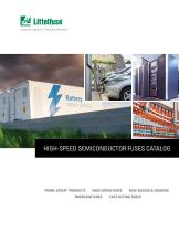 HIGH-SPEED SEMICONDUCTOR FUSES CATALOG