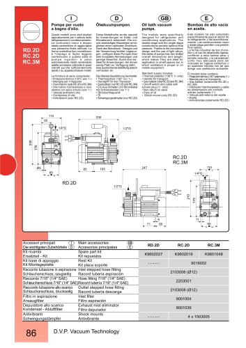 HIGH VACUUM PUMP RC.2D 220-240/50-60
