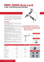 Portable Beveler and Bevelling Machine PBM3000 Auto Lock
