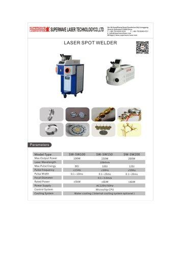 Catalog for laser spot welder