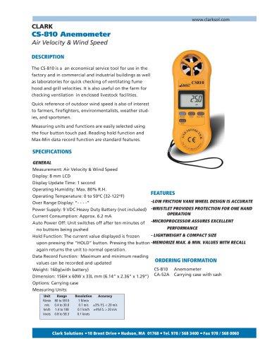 CS-810 Anemometer