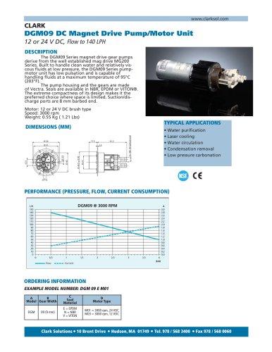 DGM09 DC Magnet Drive Pump/Motor Unit