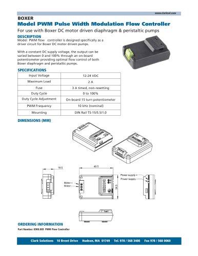 Model PWM Pulse Width Modulation Flow Controller