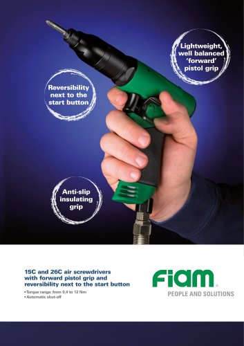 Air screwdrivers  with reversibility on the buttom 15C 26C...R