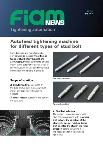 Autofeed tightening machine for different stud bolt