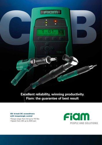CB: hi-tech DC screwdrivers with torque/angle control