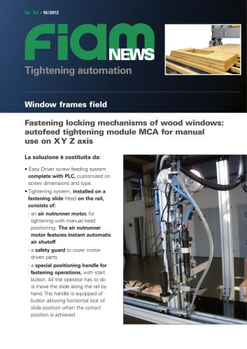 Semi-automatic assembly machine for window frames field