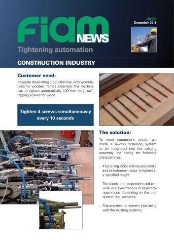Workstations for wooden frames assembly