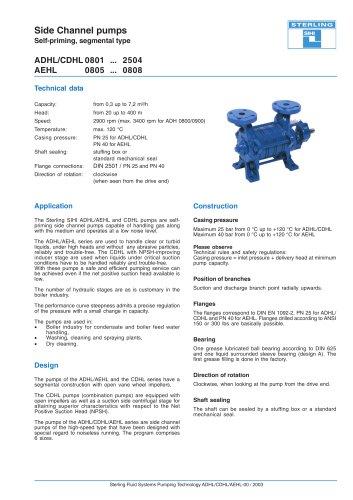 Catalogue - Series ADH, 7.2 m³/h, 250 m, 120 °C