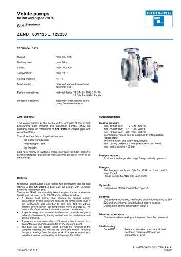 Catalogue - Series SIHISuperNova ZEN, 600 m³/h, 90 m, 230 °C