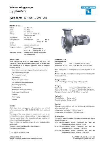 Catalogue - Series SIHISuperNova ZLK, 740 m³/h, 90 m, 120 °C