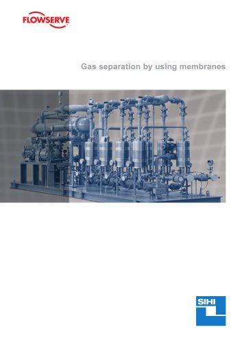 Gas separation by using membranes