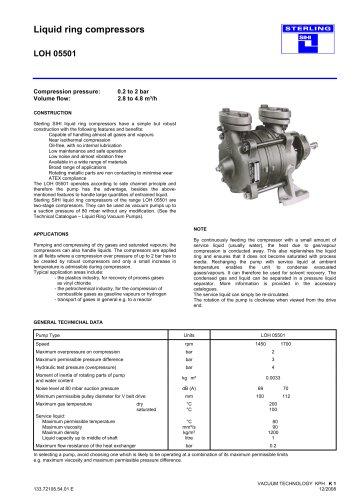 Liquid ring compressors LOH 05501