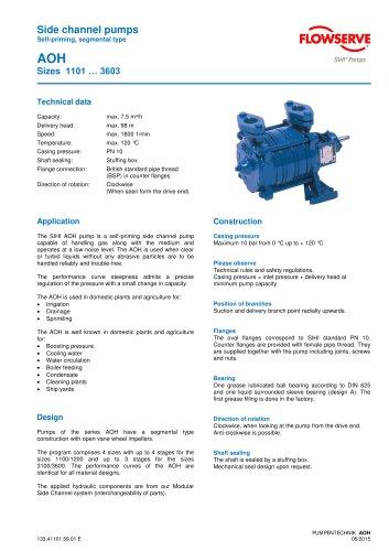 Series AOH, 7.5 m³/h, 98 m, 120 °C