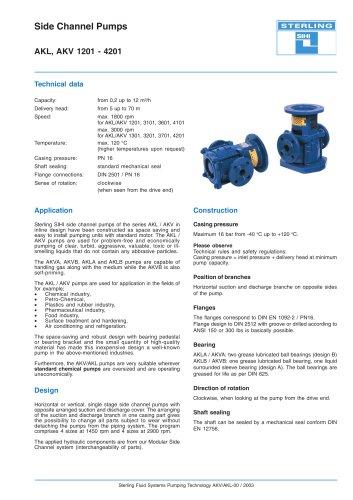 Side Channel Pumps AKL, AKV 1201 - 4201