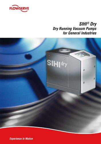 SIHIdry Dry Running Vacuum Pumps for General Industries