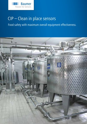 CIP - Clean in place sensors