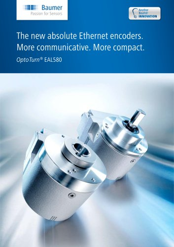 The new absolute Ethernet encoders. More communicative. More compact.