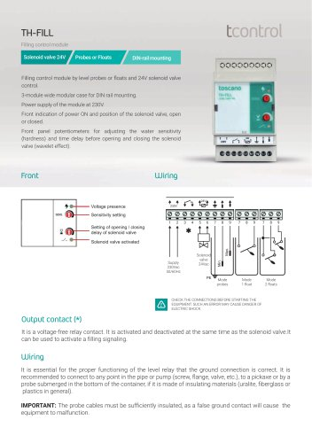 Brochure TH-Fill 2018 - Filling control module