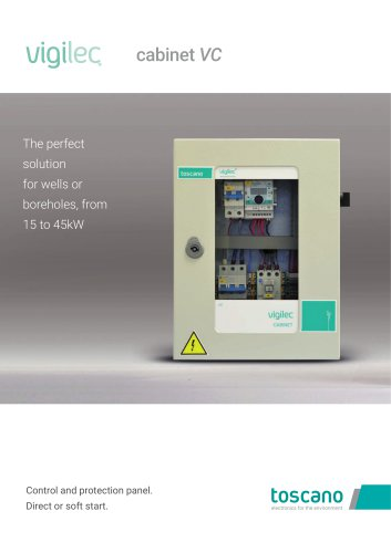 Brochure Vigilec Cabinet VC - Control and protection panel for wells or boreholes