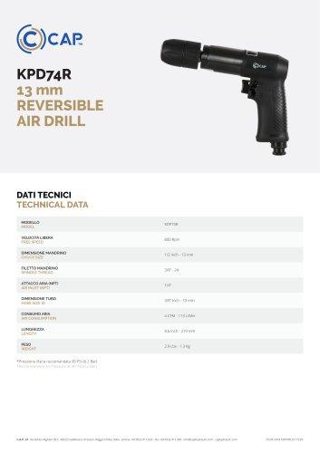 KPD74R 13 mm REVERSIBLE AIR DRILL