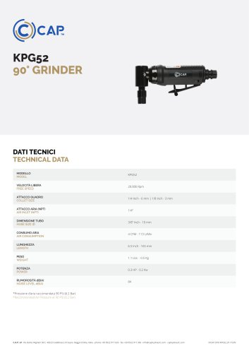 KPG52 90° GRINDER