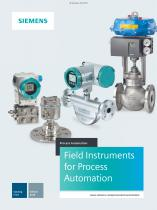 Catalog FI01 Field Instruments for Process Automation 2018