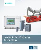 Products for Weighing Technology