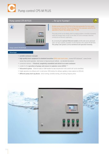 CONDOR Pump Control CPS-M PLUS ...for up to 4 pumps!