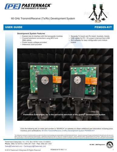 60 GHz Transmit/Receive (Tx/Rx) Development System