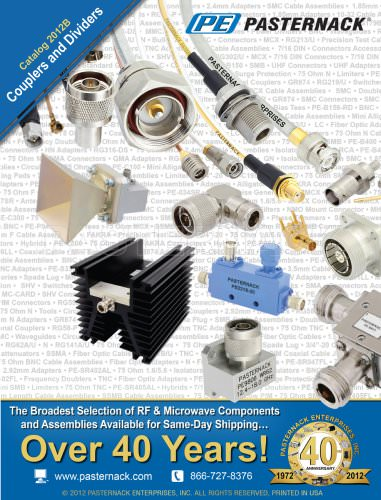 Catalog 2012B - RF Couplers and Dividers