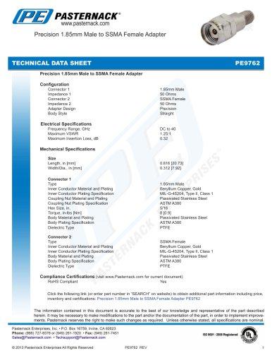 Precision 1.85mm Male to SSMA Female Adapter