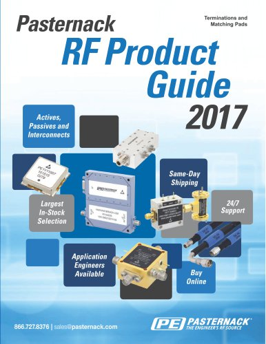 RF Terminations and Matching Pads Catalog Pasternack