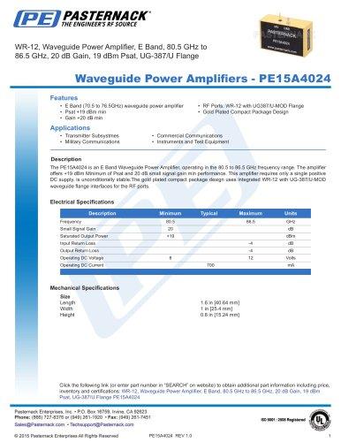 Waveguide Power Amplifiers -