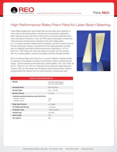 Risley Beam Steering Prism Pairs