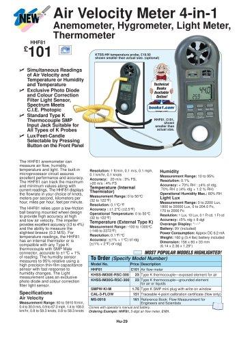 4-IN-1 Air Velocity Meter   HHF81