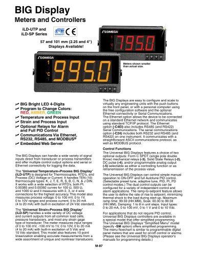 BIG Display Meters and Controllers