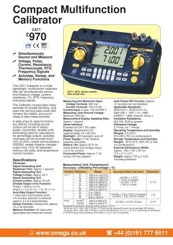 Compact Multifunction Calibrator  CA71