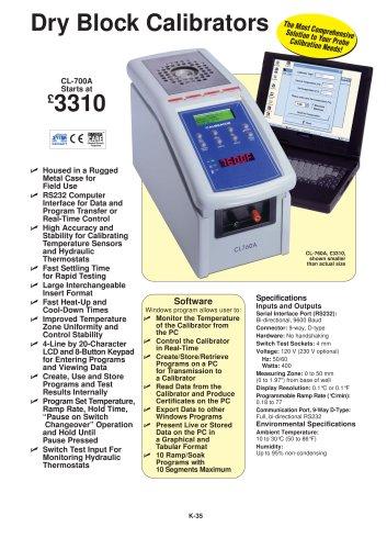 Dry Block Calibrator CL-700A Series