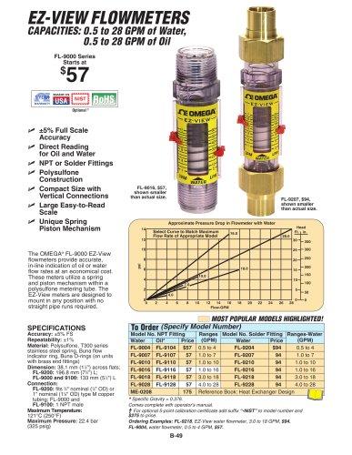 Flowmeters   FL-9000, FL-9100 and FL-9200