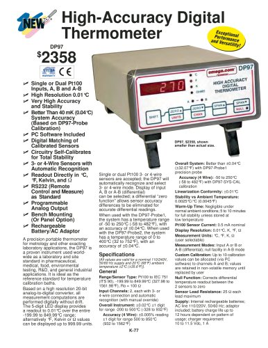 High Accuracy Digital Thermometers DP97