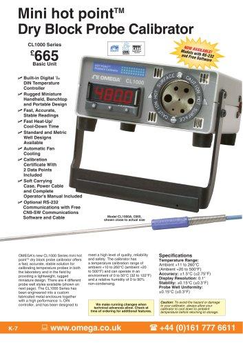 Miniature hot point® Dry Block Calibrator CL1000 Series