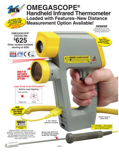 OMEGASCOPE® Handheld Infrared Thermometer