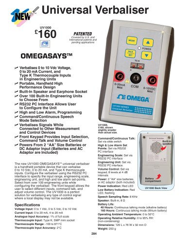 Process-Signal-to-Speech Converter UV1000