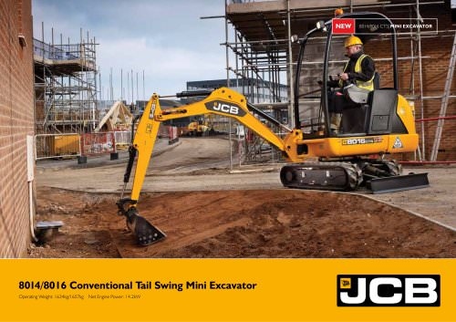 8014/8016 Conventional Tail Swing Mini Excavator