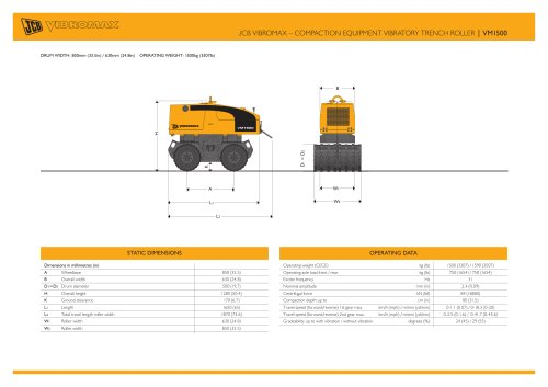 JCB VIBROMAX ? COMPACTION EQUIPMENT VIBRATORY TRENCH ROLLER | VM1500