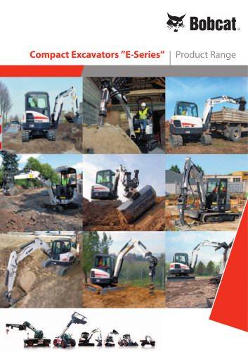 Excavators - Product range