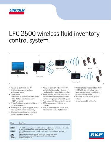 LFC 2500 wireless fluid inventory control system