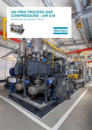 OIL-FREE PROCESS GAS COMPRESSORS – API 618 HX/HN Series (up to 560 kW / 750 hp)